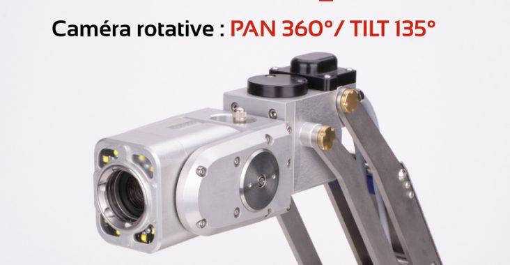 Caméra d'inspection sur chariot motorisée pour canalisations